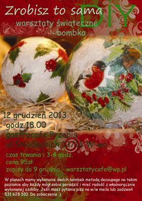 Warsztaty DIY - świąteczna bombka