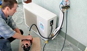 KROK V - Odpowietrzenie instalacji freonowej