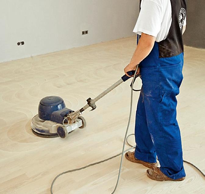KROK III - Oczyszczanie podłogi - przygotowanie do olejowania drewna